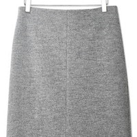 Boiled Wool Skirt by Boutique - Grey