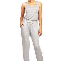 Cotton Jogger Jumpsuit