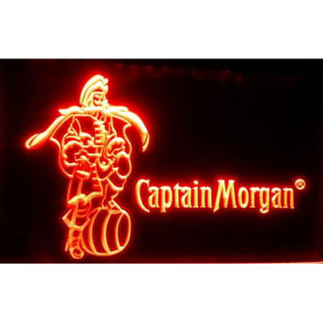 tm7523 Captain Morgan Bar Beer LED Neon sign On/Off Switch 7 Colors