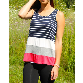 Striped Colorblock Tank