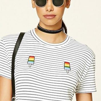 Embroidered Popsicle Stripe Tee