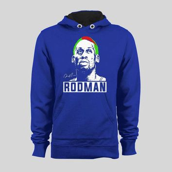 BASKETBALL'S BAD BOY DENNIS RODMAN INSPIRED CUSTOM ART HOODIE /SWEATER