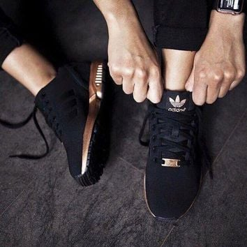 hcxx Adidas Zx Flux Core Black / Copper