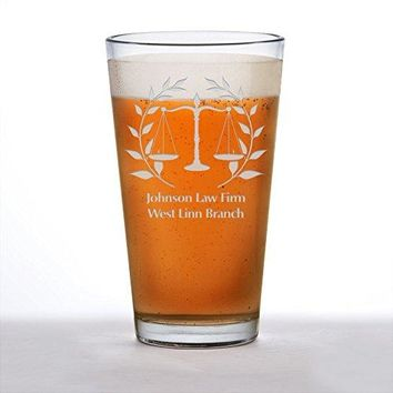 Lawyer, Lawyer gift, Lawyer Beer glass, Gift for Lawyer, Scales of Justice, Attorney, Attorney gift