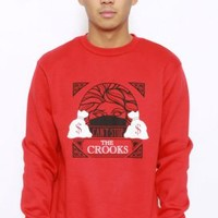 Crooks & Castles, Cathedral Crewneck - Red - Sweatshirts / Hoodies - MOOSE Limited