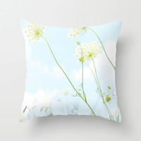 Fresh air Throw Pillow by Courtney Burns