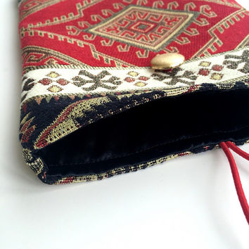Ethnic Bohem Style, Carpet Fabric İpad Case