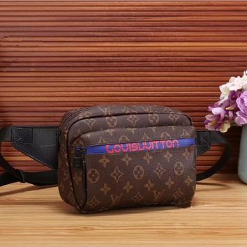 LV Women Leather Purse Waist Bag Single-Shoulder Bag Crossbody