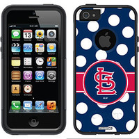 """""""St. Louis Cardinals - Polka Dots"""" Cardinals design on OtterBox® Commuter Series® Case for iPhone 5 in Black"""