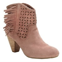 Jessica Simpson Orlina Perforated Suede Boot at Von Maur