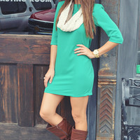 Christmas Party Ready Dress: Green | Hope's