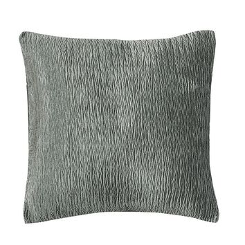 Rochelle Ruched Square Decorative Pillow (Grey)