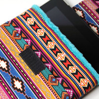 iPad case iPad 2 sleeve - iPad PADDED cover for Tablets- Tucson with Minky and Pocket