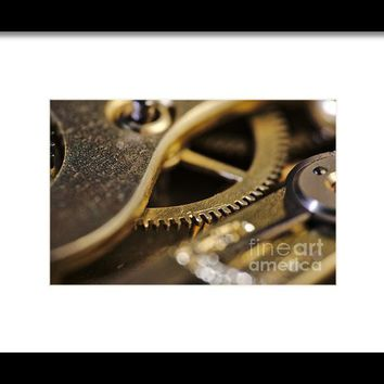 The Heart Of A Watch Framed Print