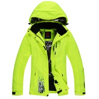 Winter ski jacket women breathable warm snowboarding jackets