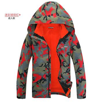 2017 Winter Man And Women Camouflage 2 Pcs Jacket+fleece Coat Set For Ski And Snowboarding Hiking Climbing Outdoor Warm Clothes