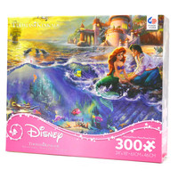 disney kinkade the little mermaid oversized pieces 300 pcs puzzle new with box