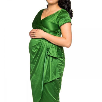 Pinup Couture Maternity Friendly Ava Dress in Jade Green