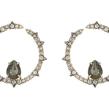 Alexis Bittar Crystal Encrusted Front Facing Hoop Earrings
