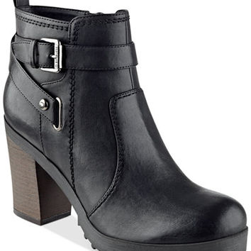 G by GUESS Francy Lug Booties - Boots - Shoes - Macy's
