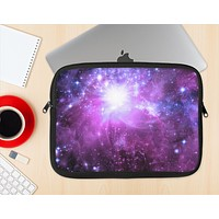 The Violet Glowing Nebula Ink-Fuzed NeoPrene MacBook Laptop Sleeve