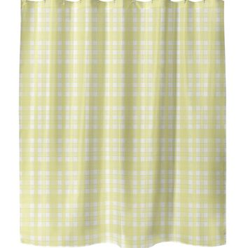 NOHO PLAID Shower Curtain By Terri Ellis