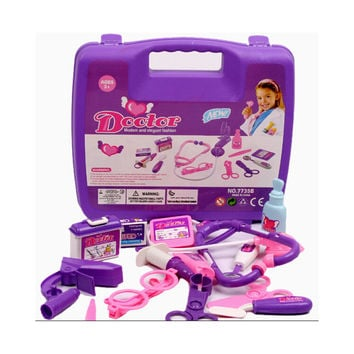 Girl Boy Baby Kids Doctor's Medical Play Set & Carry Case Kit Education Role Play Toy