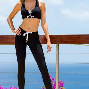 Sauvage Athletic Lace-Up Pants | Luxury Workout Pants