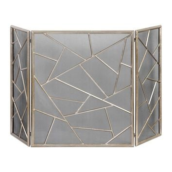 Armino Modern Fireplace Screen By Uttermost