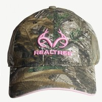 Camo Caps for Girls | Realtree Xtra Heavy Washed Woven Label Cap