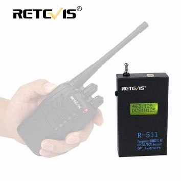 Frosted Iron Shell Retevis R-511 Portable Frequency Counter Meter LCD Display 50MHz-2.4GHz CTCSS/DCS Decoder For Walkie Talkie