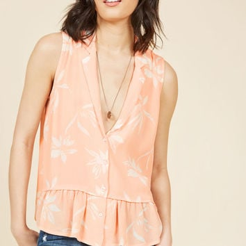 Gone Gauzy Button-Up Top