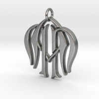 Monogram Initials NNA Pendant by CalicoFlair on Shapeways