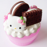 Kawaii Pink Hello Kitty Chocolate Cookies by CapricaAccessories