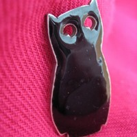 Owl brooch by monkeynorman on Etsy