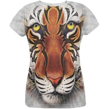 PEAPGQ9 Tribal Tiger All Over Womens T-Shirt