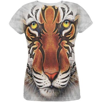 ICIK8UT Tribal Tiger All Over Womens T-Shirt