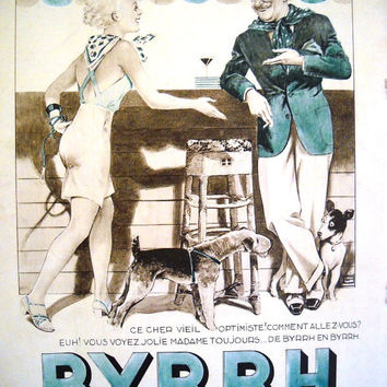 BYRRH, Vintage advertisement on L'Illustration 1936