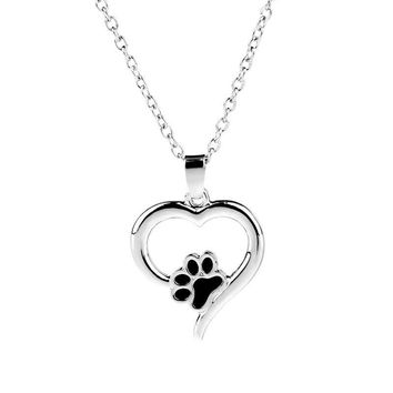 Kitty Cat Paw Pendant Necklace