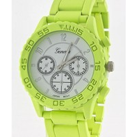 Lime Metal Watch