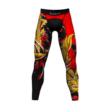 Koi Gold Red Tights for men