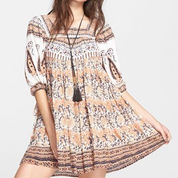 Women's Free People 'Snap Out of It' Print Dress