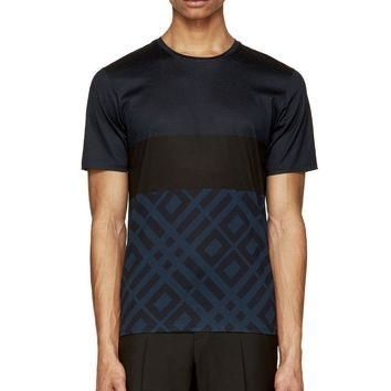 Burberry London Blue Patterned T-shirt