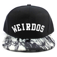 Weirdos Jackson Snapback Hat in Black & White