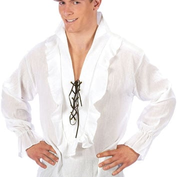 men's costume: pants pirate - fancy white