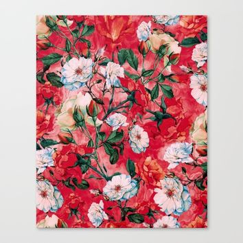 Rose Red Canvas Print by RIZA PEKER