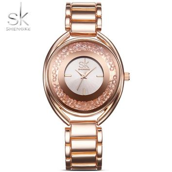 Shengke K0016 Quartz Stainless Steel Watch