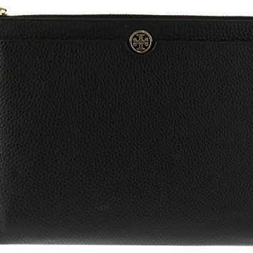 Tory Burch Robinson Pebbled Leather Zip Pouch Wristlet