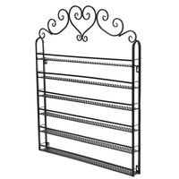 6 Tier Metal Nail Polish Wall Rack Mounted Organizer Display Storage Shelf Holder
