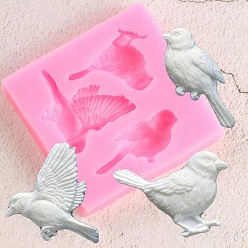 Sugarcraft Birds Silicone Mold Fondant Mold Cake Decorating Tools Candy Clay Chocolate Gumpaste Molds Resin Clay Soap Moulds